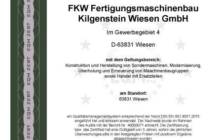 Zertifikat FKW